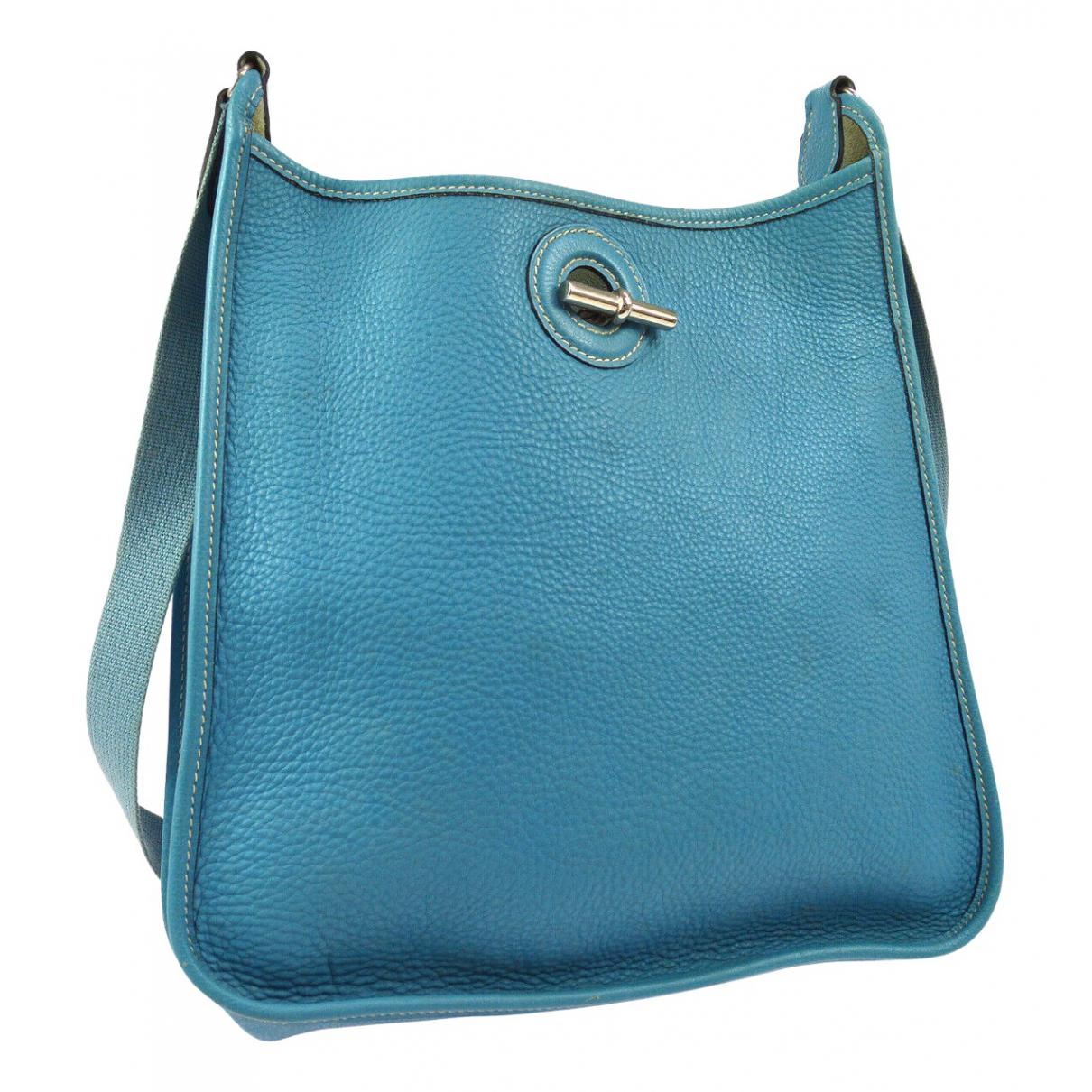 Hermès Vespa Blue Leather handbag for Women \N