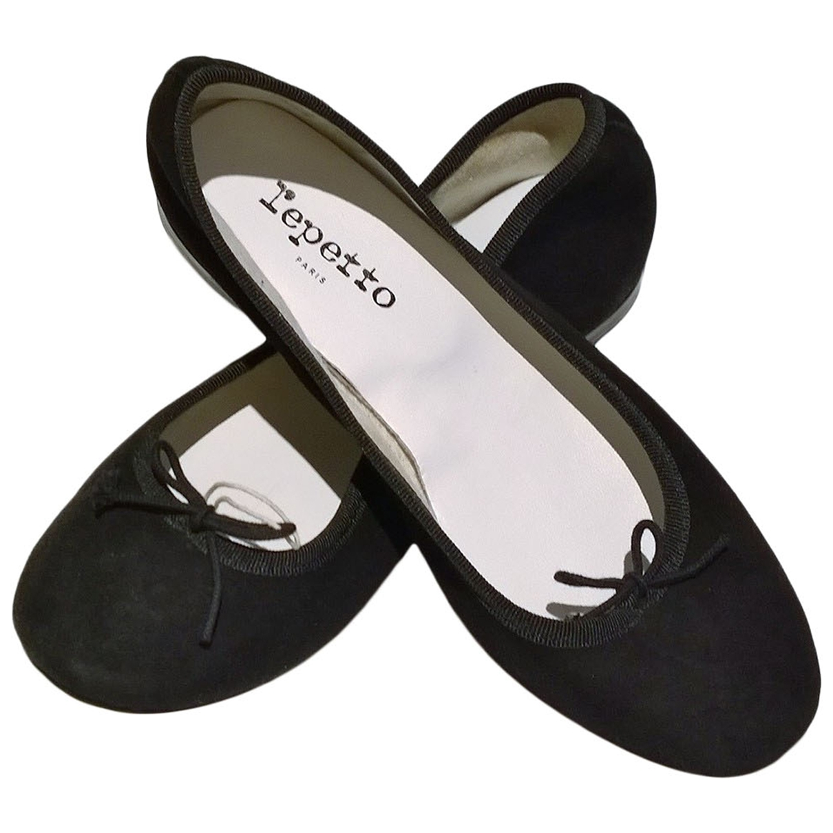 Repetto \N Black Suede Ballet flats for Women 37 EU