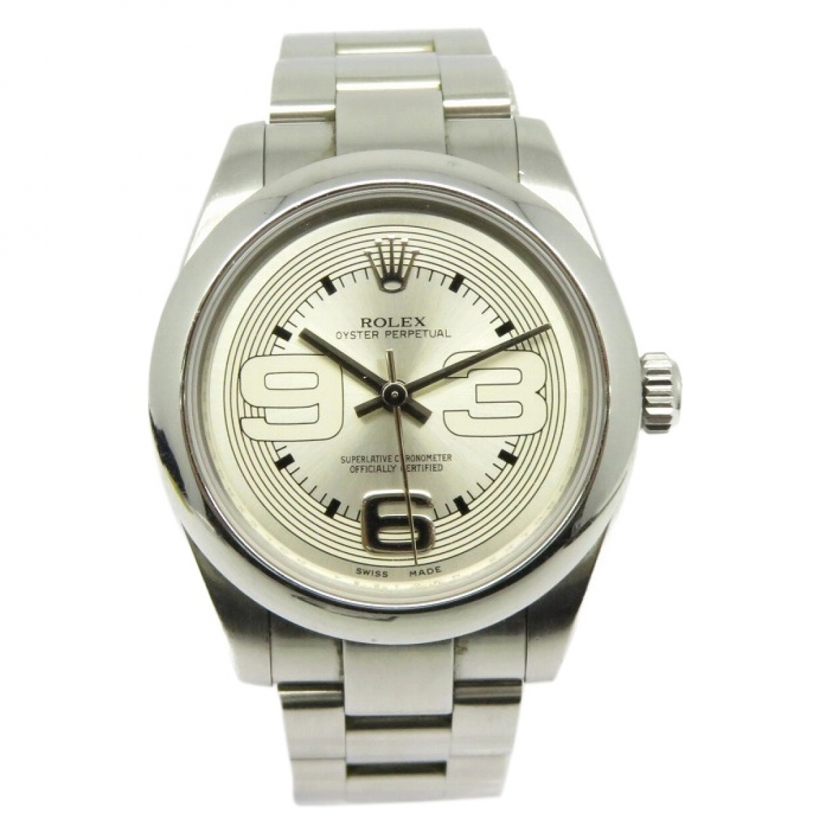 Rolex Oyster Perpetual 31mm Silver Steel watch for Women \N