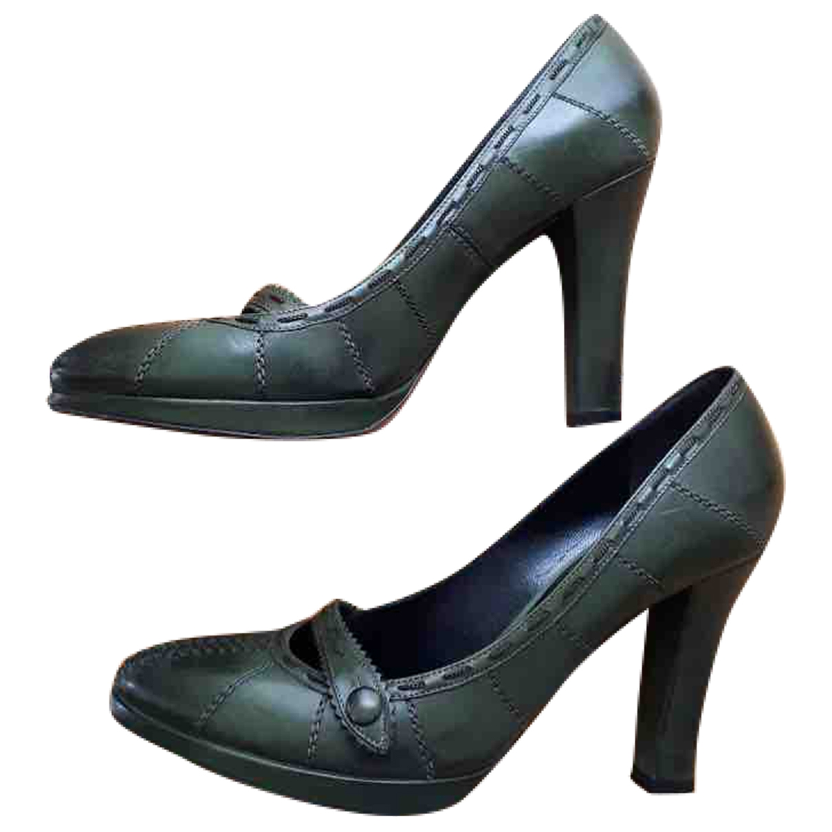 Bottega Veneta - Escarpins   pour femme en cuir - vert