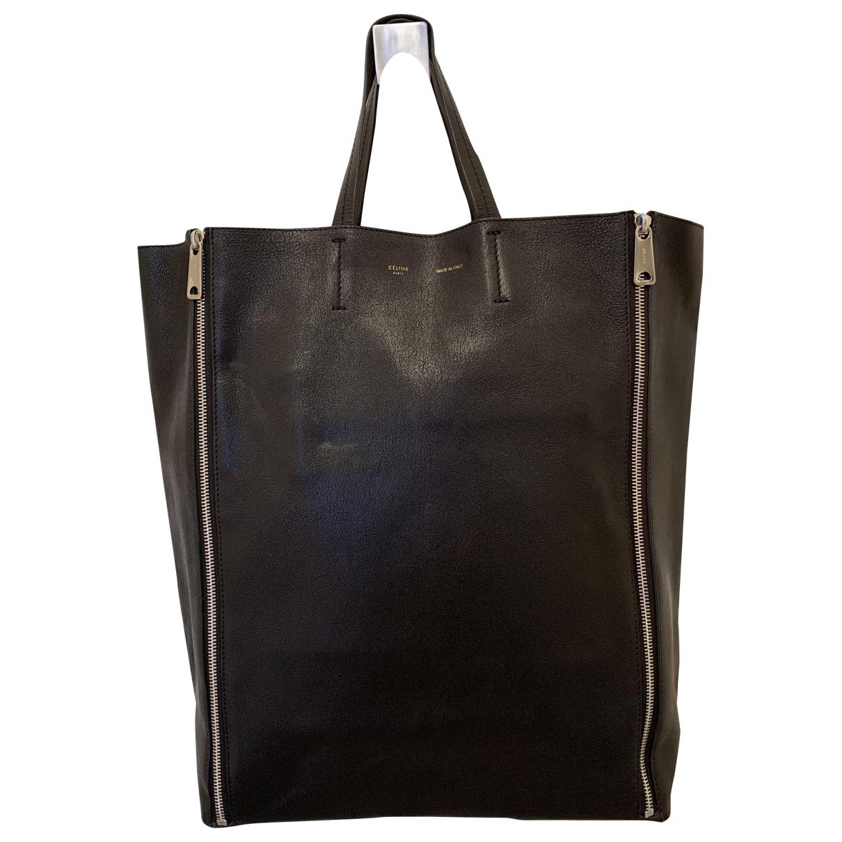Celine Gusset Black Leather handbag for Women \N