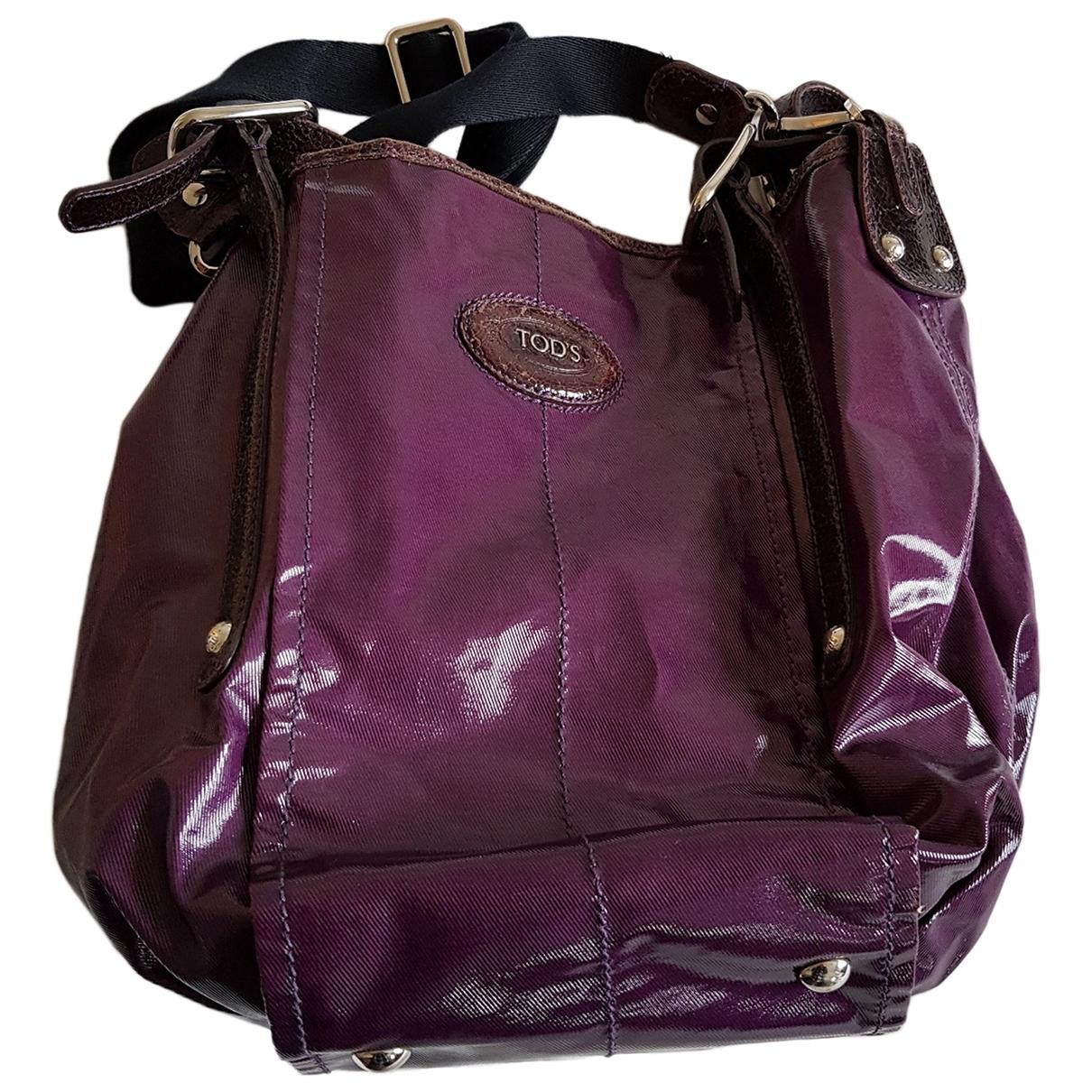 Tods \N Handtasche in  Lila Leinen