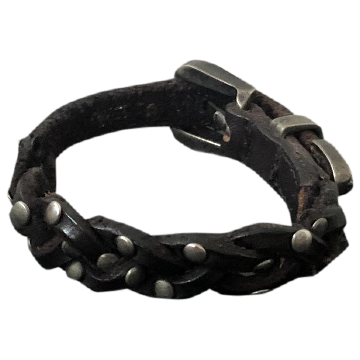 Cycle - Broche   pour femme en cuir - noir