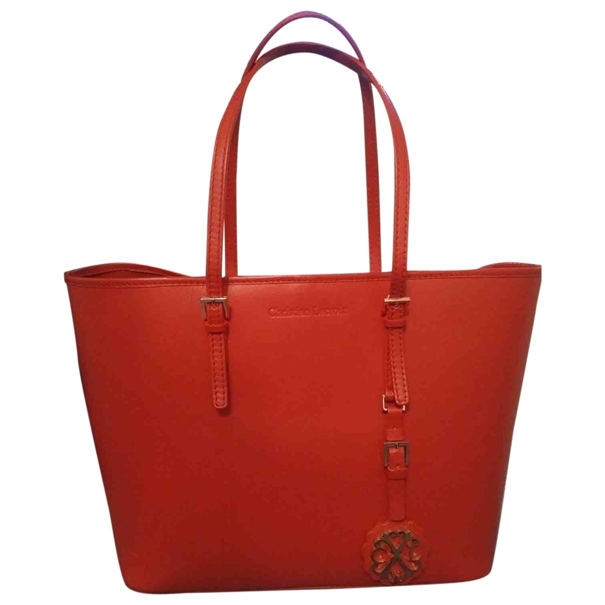 Christian Lacroix \N Red Leather handbag for Women \N