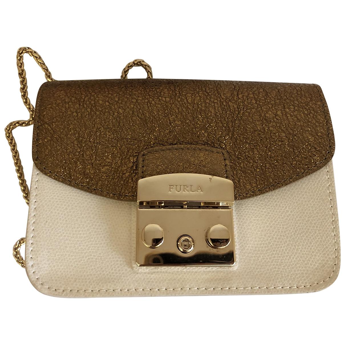 Furla Metropolis Handtasche in  Weiss Leder