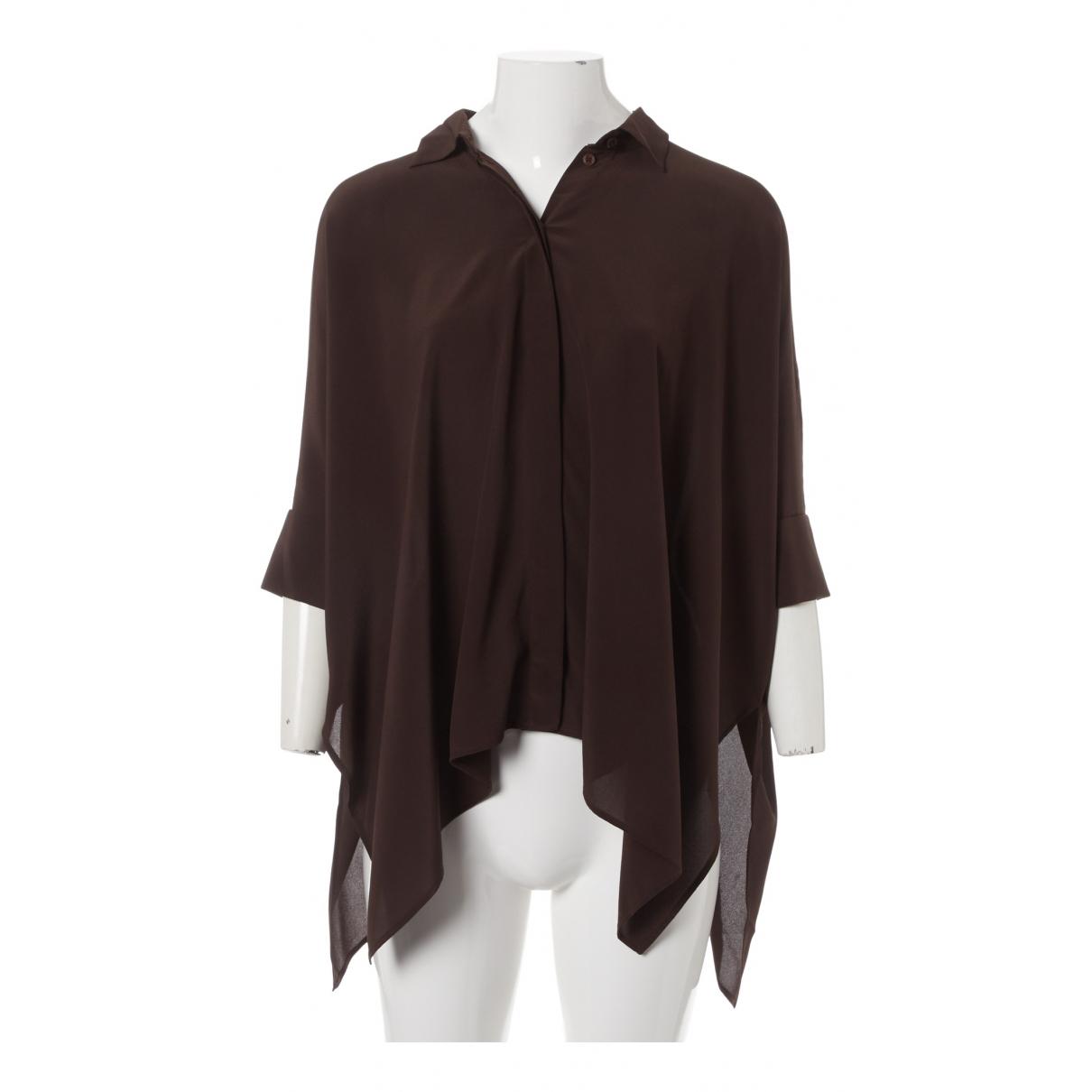 Gucci - Top   pour femme en soie - marron