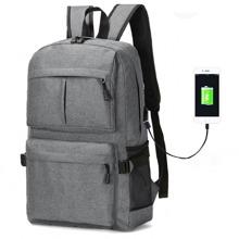 Maenner Rucksack mit USB Ladeanschluss