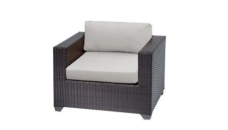 Belle TKC010b-CC-ASH Club Chair - Wheat and Ash