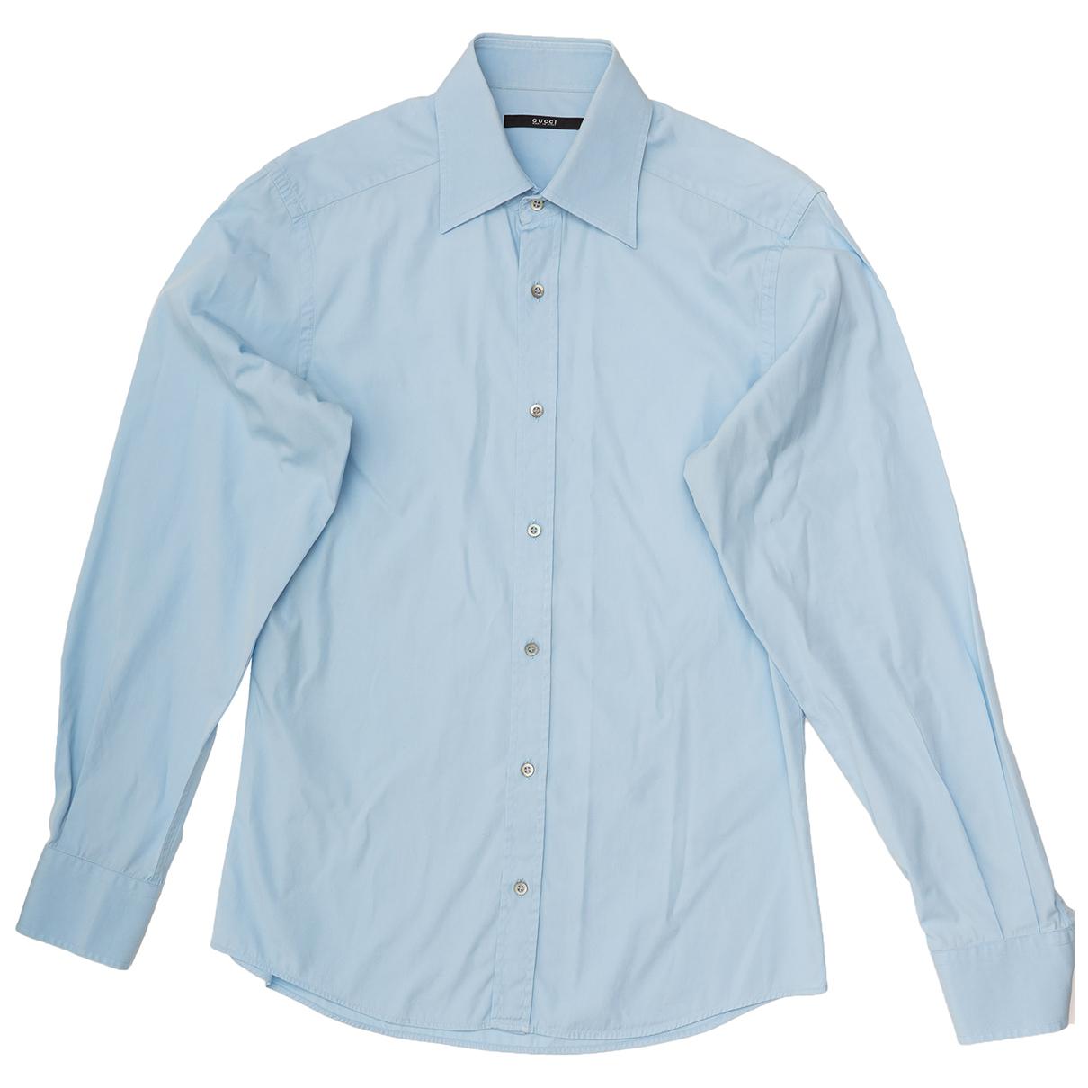 Gucci - Chemises   pour homme en coton - bleu
