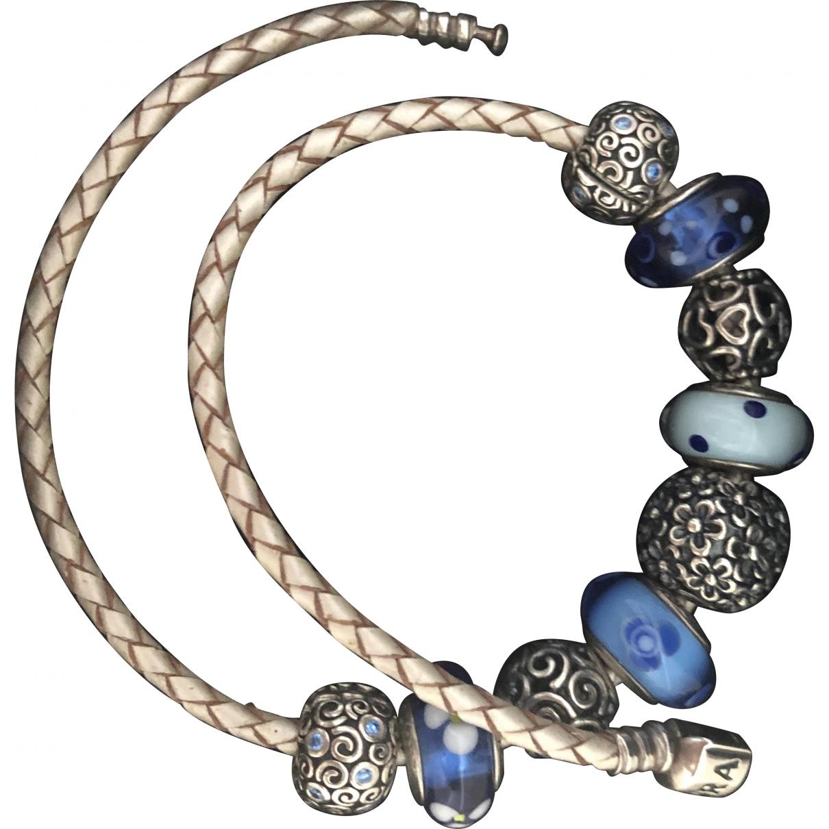 Pandora \N Armband in  Grau Leder
