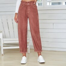 Paperbag Waist Corduroy Pants