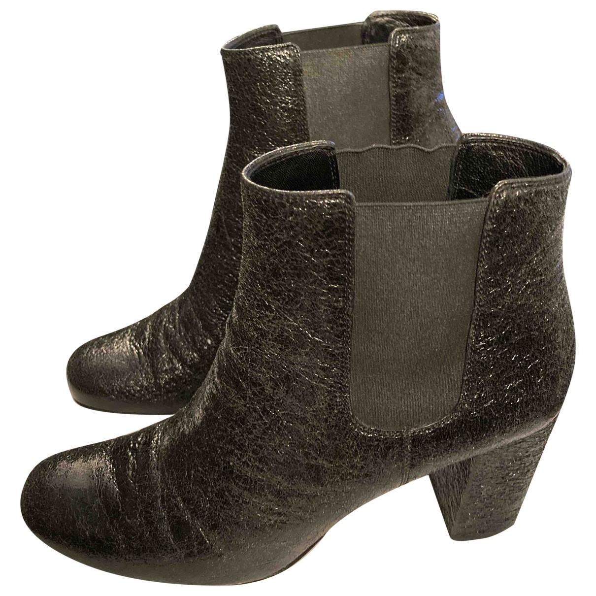 Saint Laurent N Black Patent leather Ankle boots for Women 39 EU