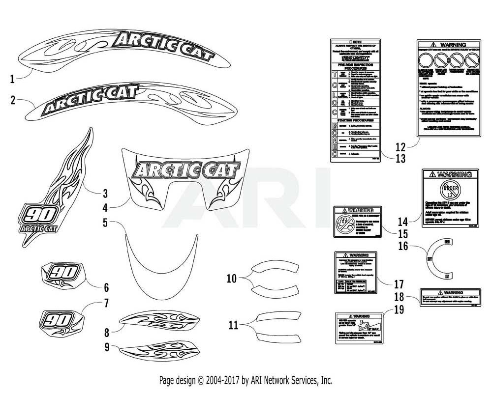 Arctic Cat OEM 0411-962 Reflector Red Rh