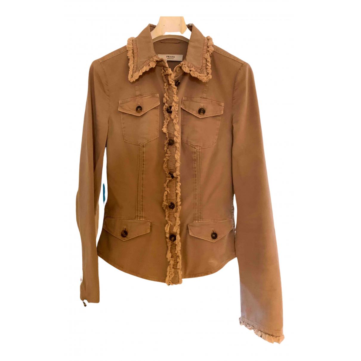 Prada \N Beige Cotton jacket for Women 38 IT