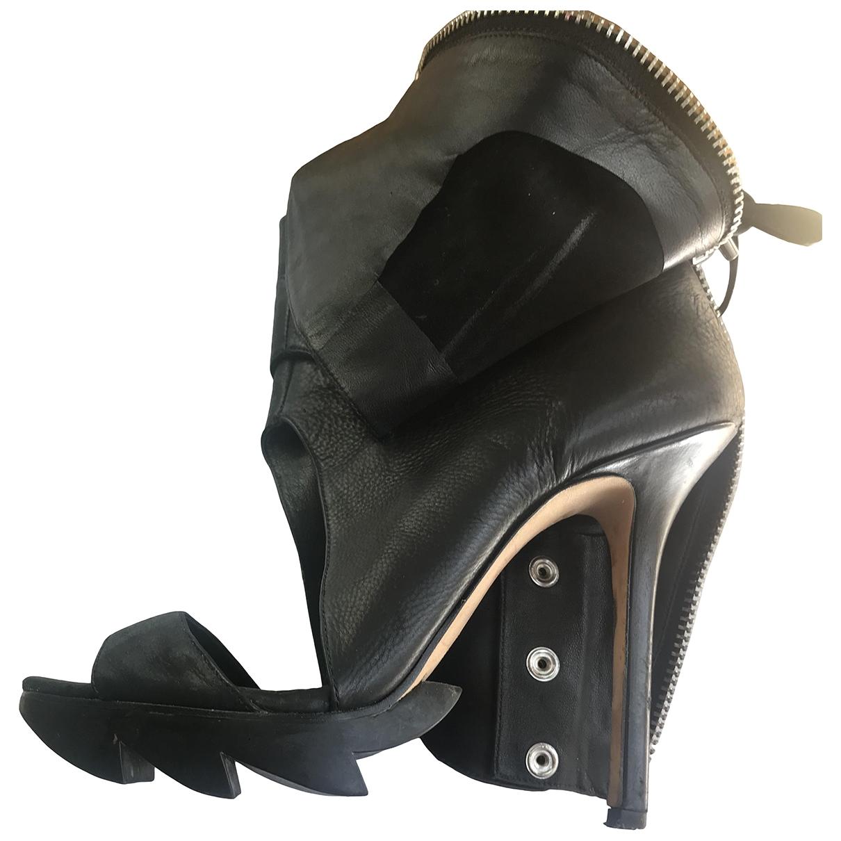 Camilla Skovgaard - Sandales   pour femme en cuir - noir