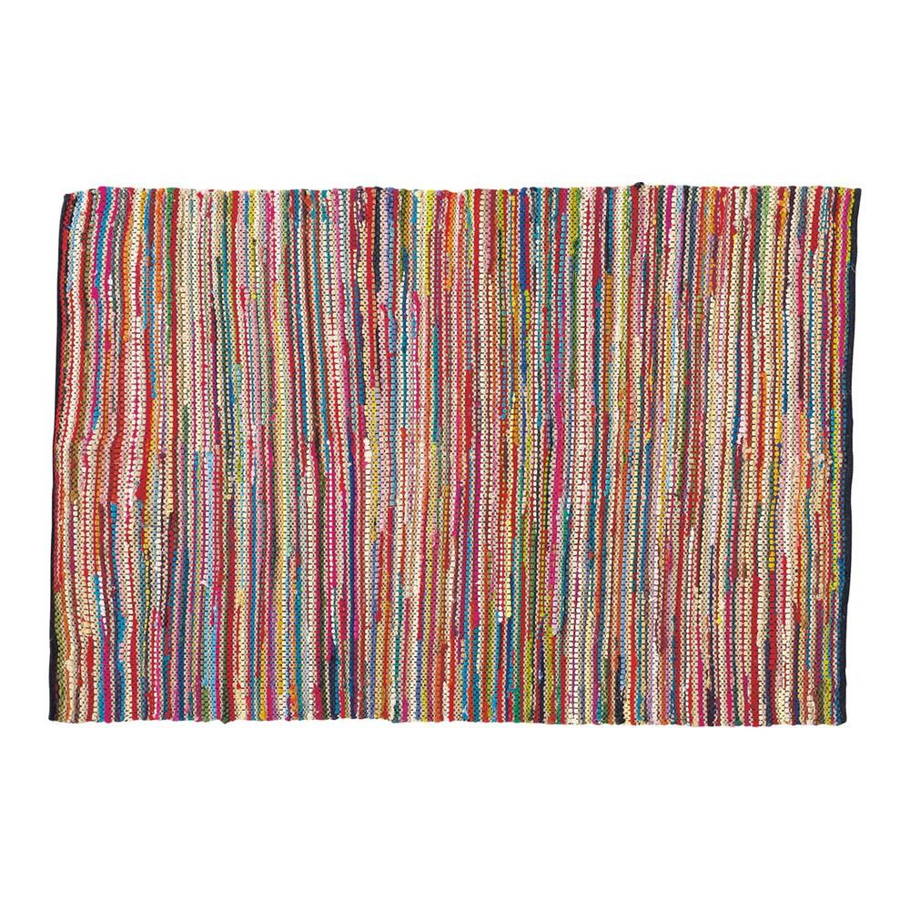 Flechtteppich ROULOTTE aus Baumwolle, 140 x 200cm, bunt