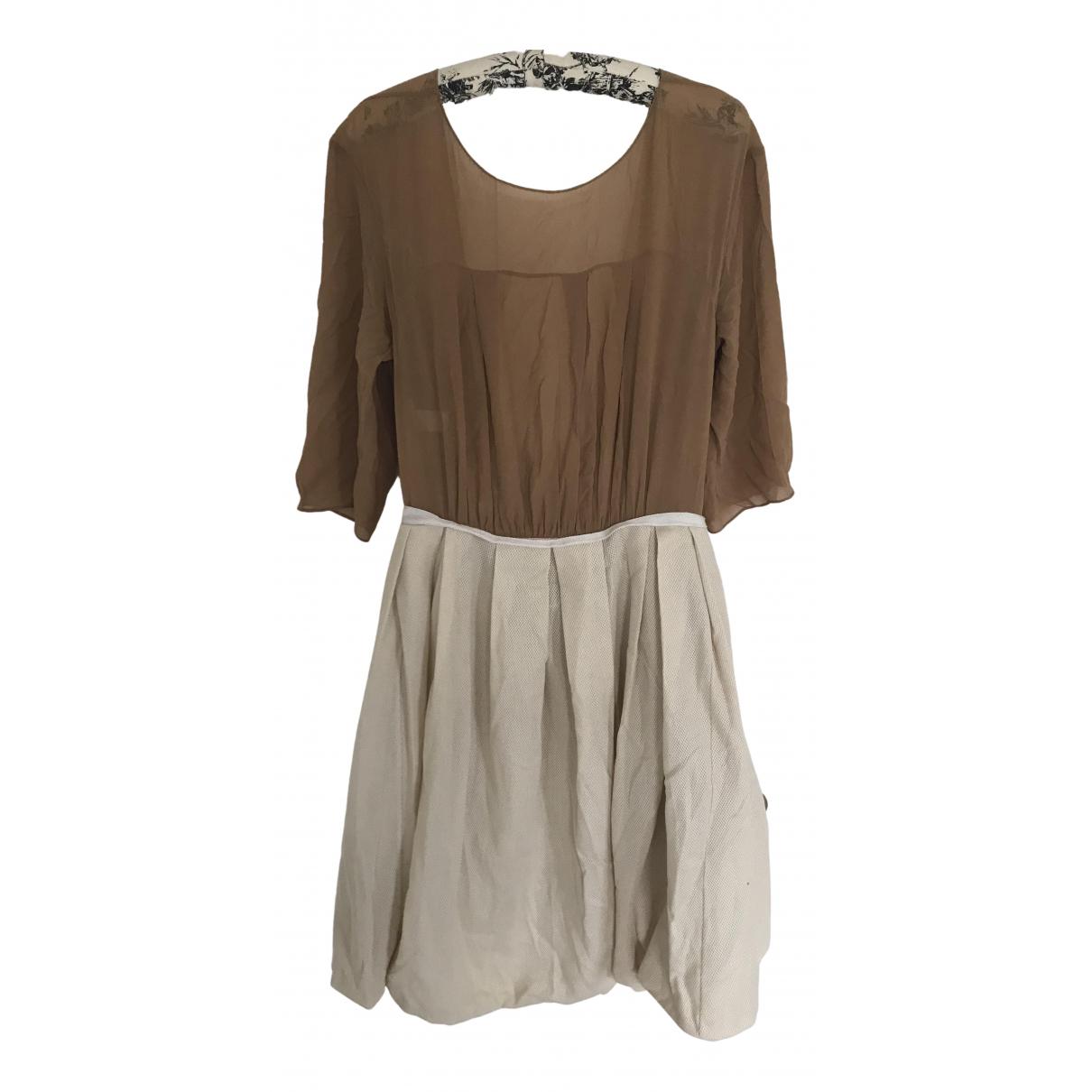 Marni \N Kleid in  Kamel Synthetik