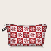 Christmas Snowflake Makeup Bag