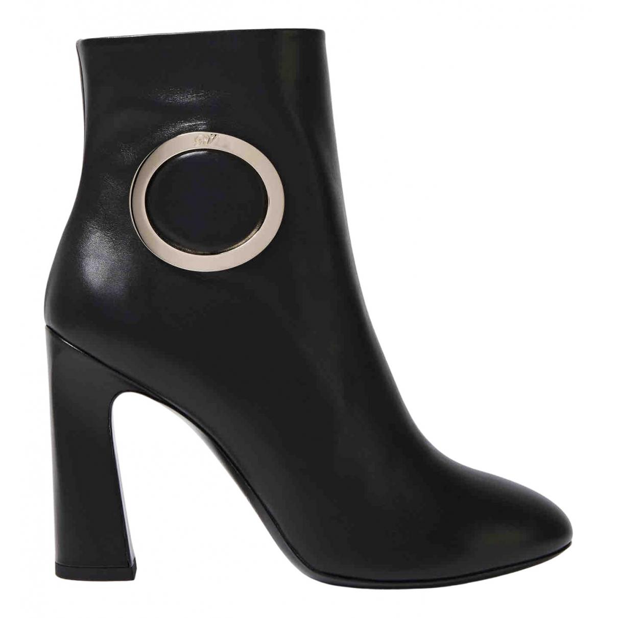 Roger Vivier - Bottes   pour femme en cuir - noir