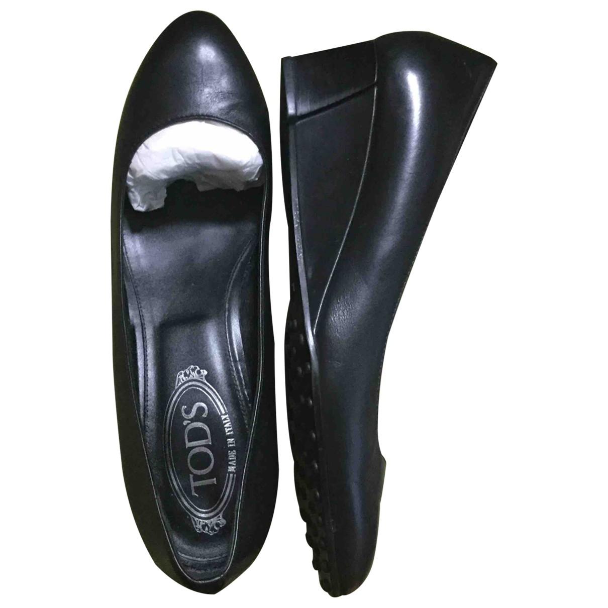 Tod's - Escarpins   pour femme en cuir - noir