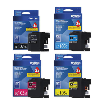 Brother MFC-J4610DW Original Ink Cartridges Black/Cyan/Magenta/Yellow 4-Pack Combo, Super High Yield