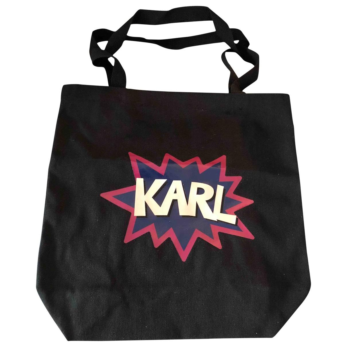 Karl Lagerfeld \N Black Cloth handbag for Women \N