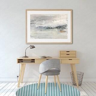 GINGHAM DREAM Office Mat By Kavka Designs (Blue, Aqua)