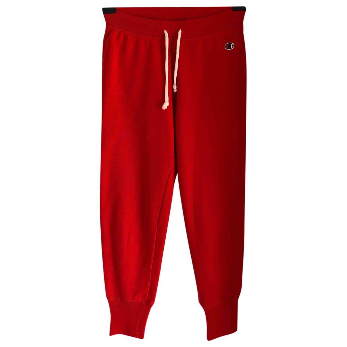 Champion - Pantalon   pour femme en coton - rouge