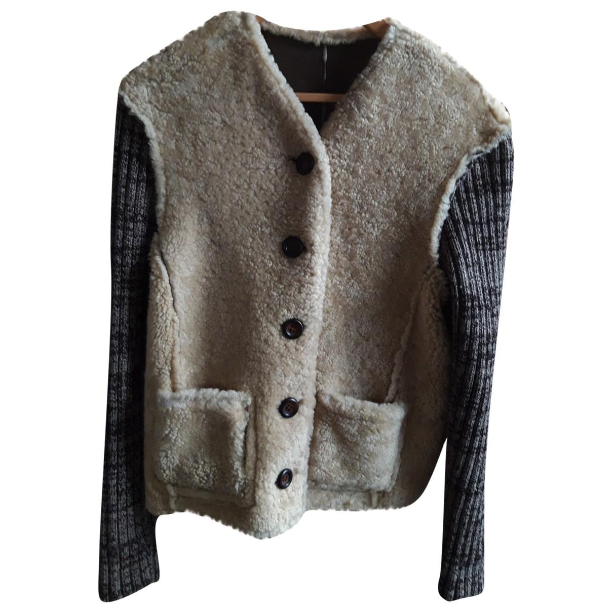 Dolce & Gabbana \N Pullover.Westen.Sweatshirts  in  Beige Schaf