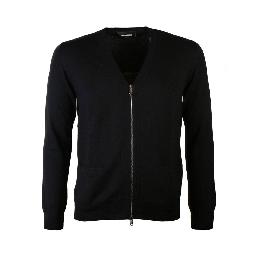 Dsquared2 Zipped Cardigan Black Colour: BLACK, Size: MEDIUM