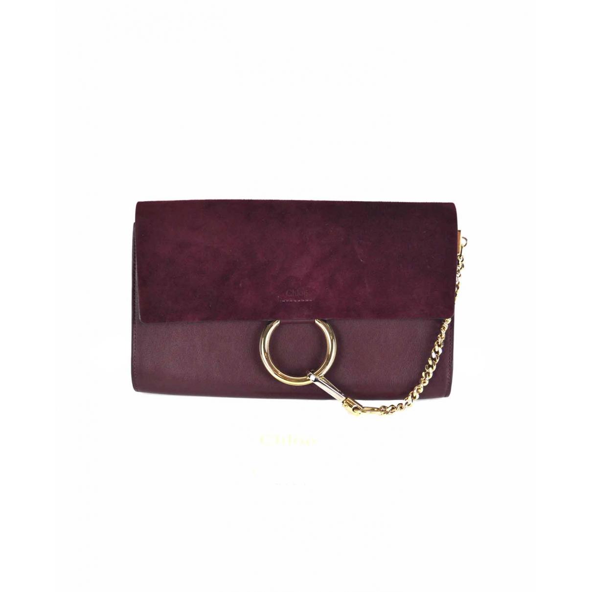 Chloé Faye Burgundy Suede Clutch bag for Women \N