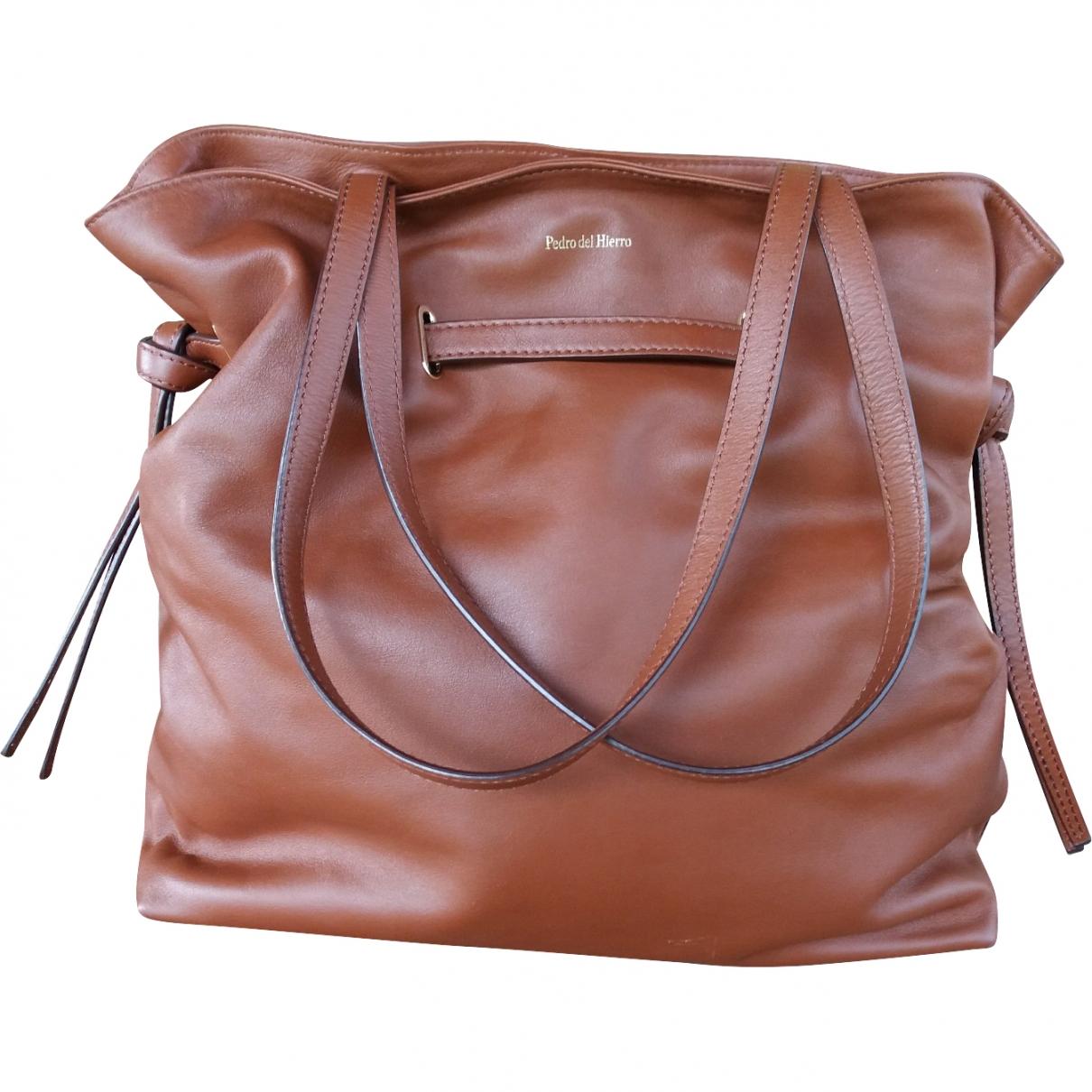 Pedro Del Hierro \N Brown Leather handbag for Women \N