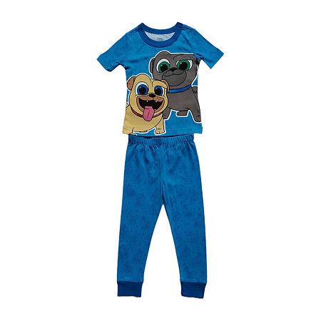 Disney Collection Little & Big Boys 2-pc. Puppy Dog Pals Pant Pajama Set, 4 , Blue