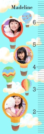 Growth Charts Growth Chart 6x2, Home Décor -Hot Air Balloons