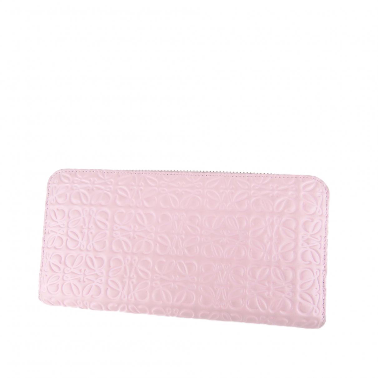 Loewe - Portefeuille   pour femme en cuir - rose