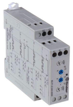 Finder SPDT Timer Relay - 0.05-10 h, 0.05-10 min, 0.05-10 d, 0.05-10 s, 1 Contacts, DIN Rail