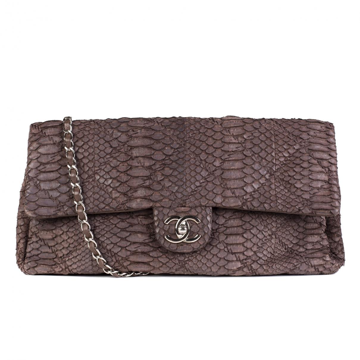 Chanel Timeless/Classique Brown Python handbag for Women \N