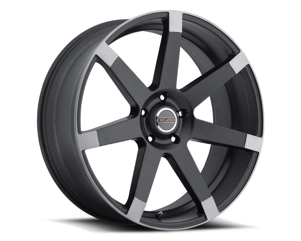 Vision Sultan Wheel 17x8 6x120 25mm Matte Black w\Anthracite Spoke Ends