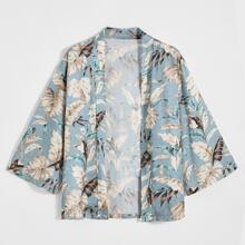 Kimono mit ueberallem tropischem Muster