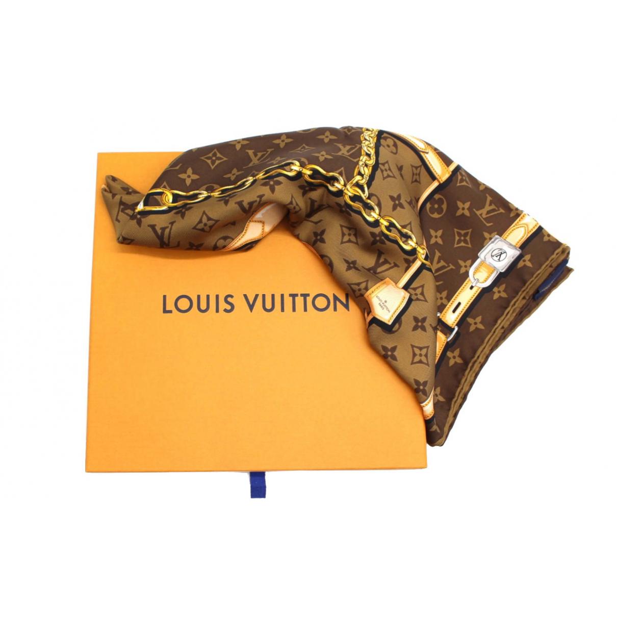 Louis Vuitton \N Schal in  Braun Seide