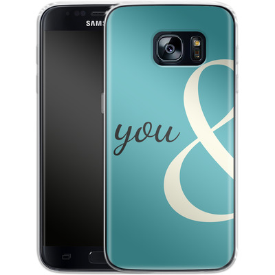 Samsung Galaxy S7 Silikon Handyhuelle - You And von caseable Designs