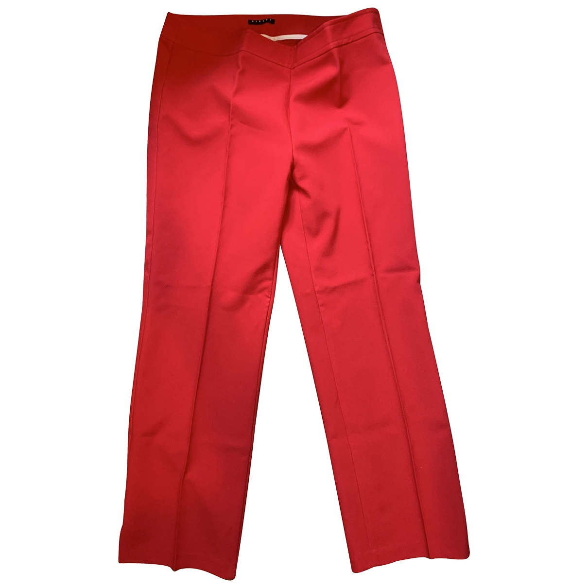 Non Signé / Unsigned \N Red Spandex Trousers for Women 46 IT