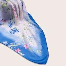 Pañuelo con patron floral