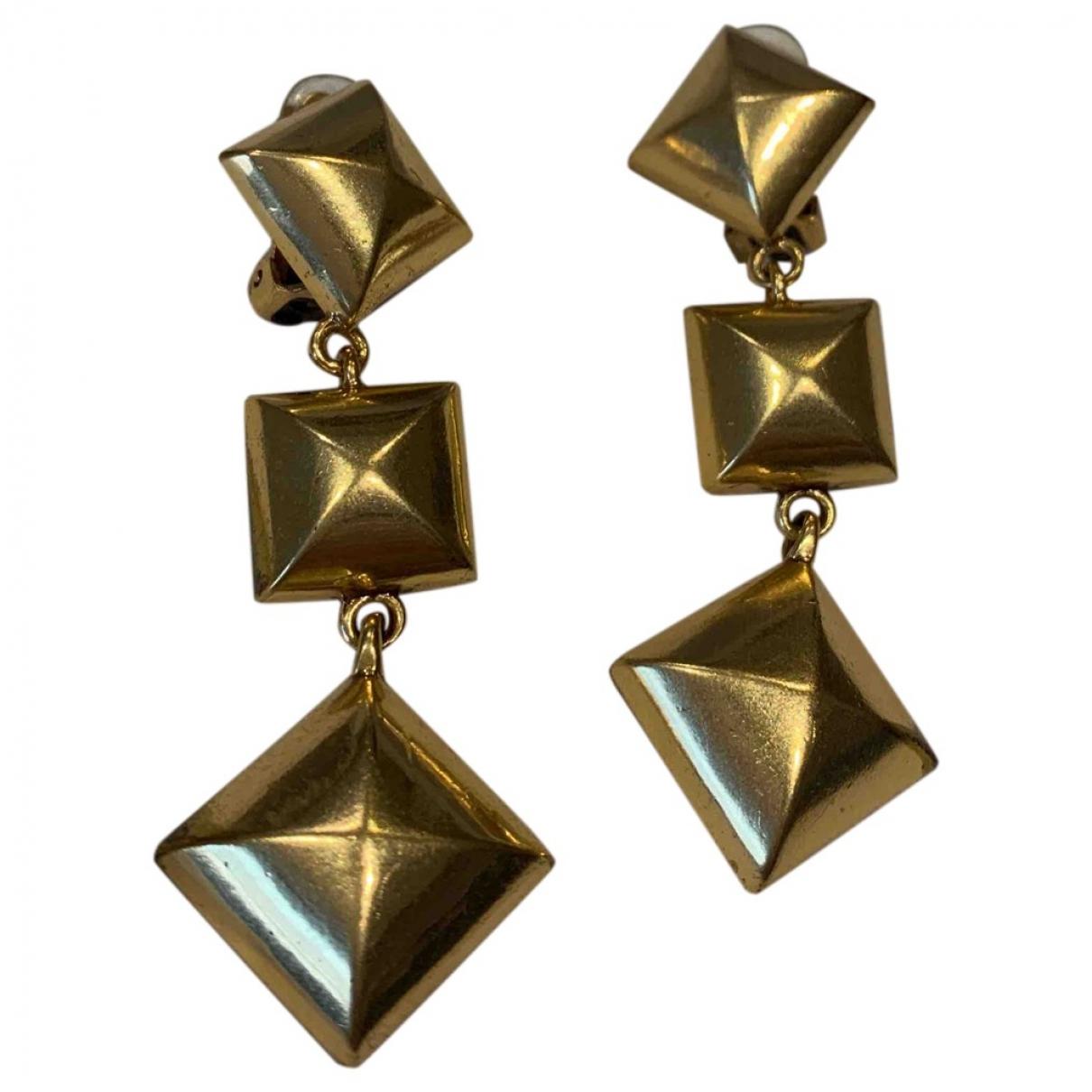 Oscar De La Renta - Boucles doreilles   pour femme en plaque or - dore