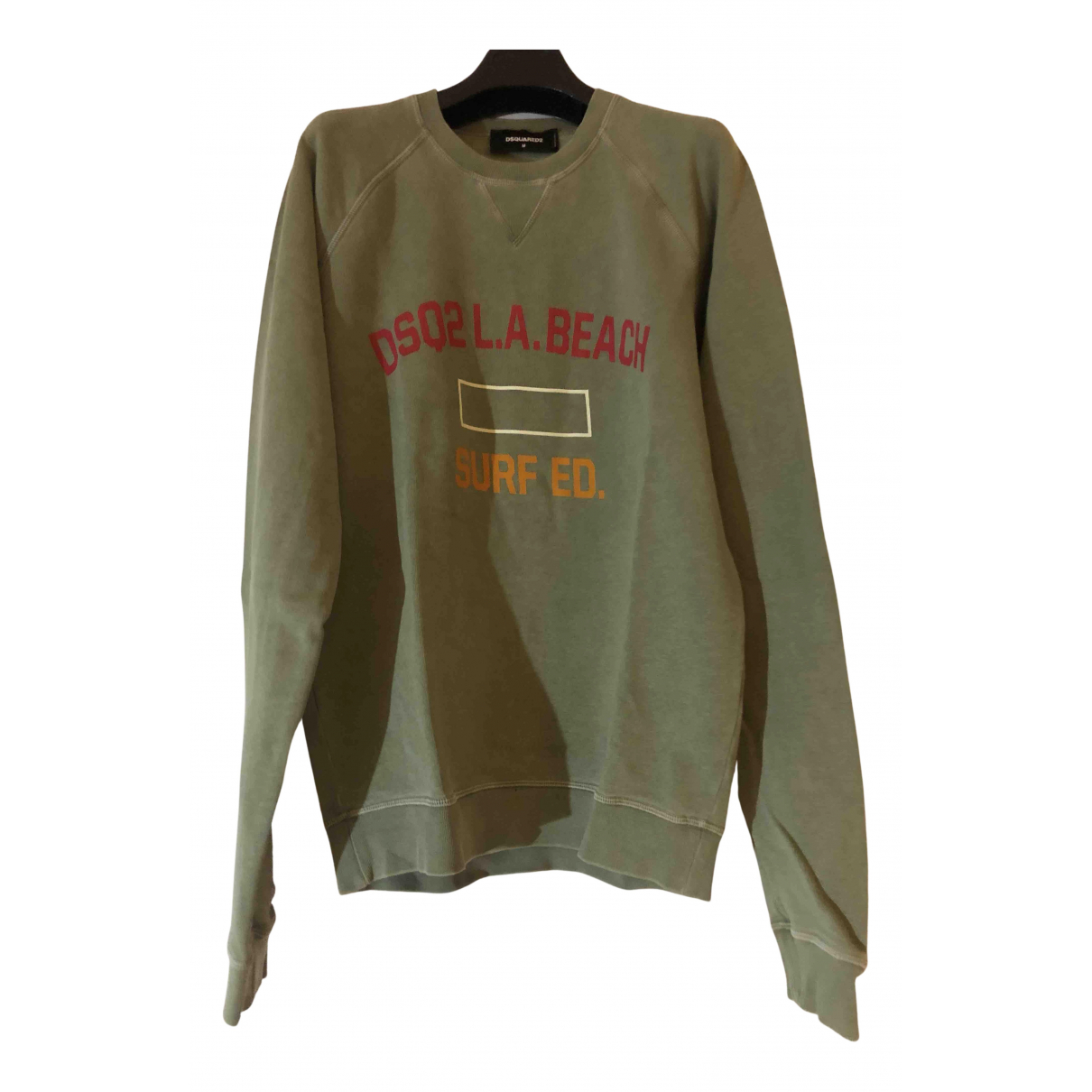 Dsquared2 N Khaki Cotton Knitwear & Sweatshirts for Men M International