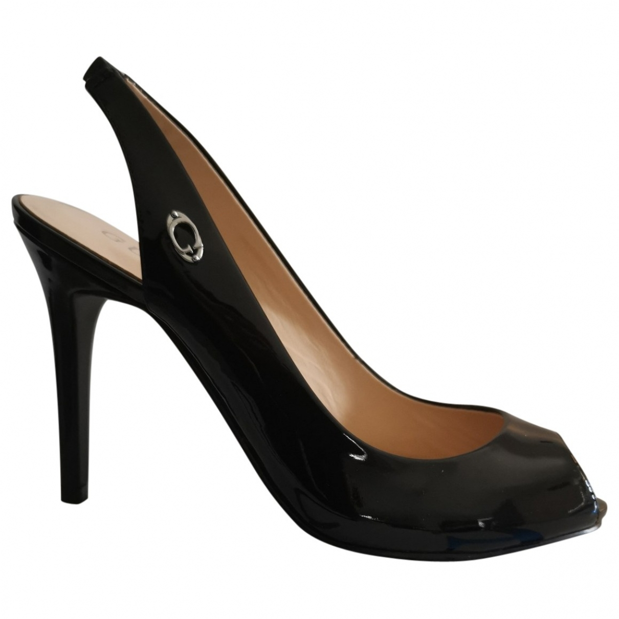 Guess \N Black Patent leather Heels for Women 35 EU