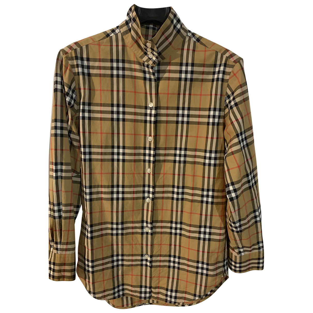 Burberry \N Camel Cotton  top for Women 4 UK