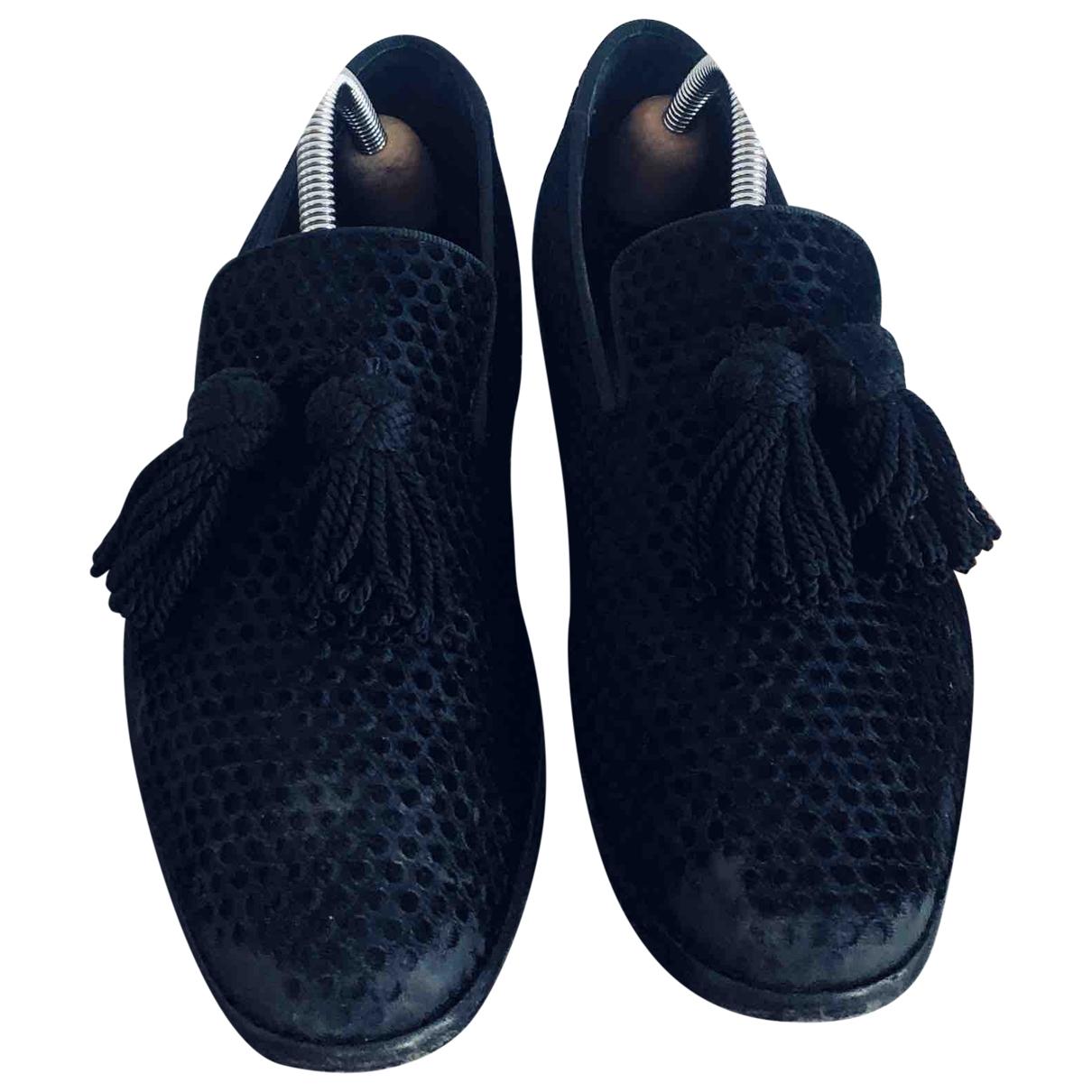 Jimmy Choo \N Black Velvet Flats for Men 40 EU