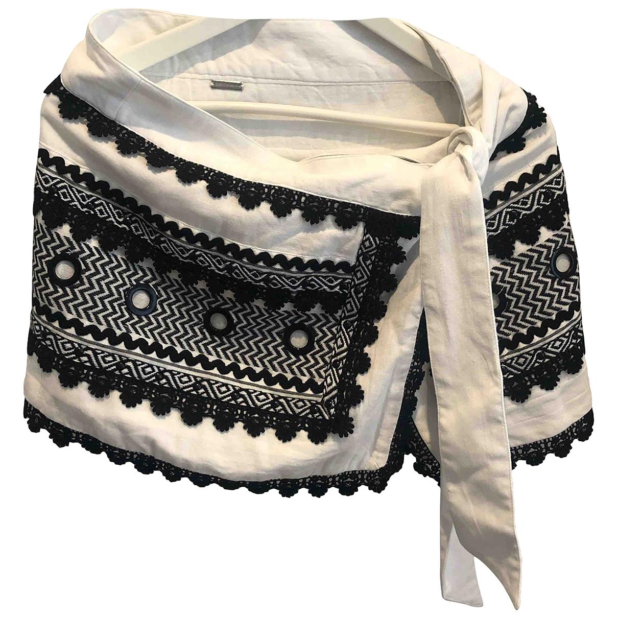 Dodo Bar Or - Jupe   pour femme en coton - blanc