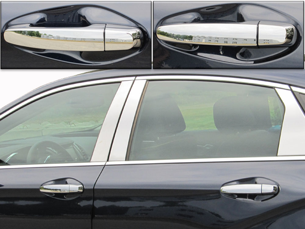 Quality Automotive Accessories  Chrome Plated ABS Plastic Door Handle Cover Kit Chevrolet Impala  14-18